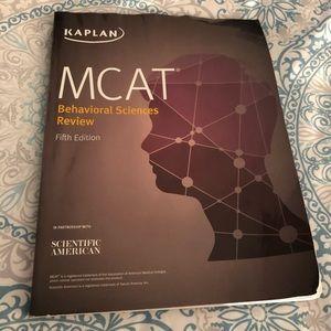 Kaplan MCAT Behavioral Sciences Review textbook